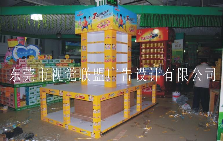 形象包柱堆头设计制作-品牌谷力谷粒集团-东莞市视觉